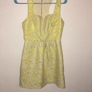 Urban Outfitters Kimichi Blue lemon yellow mini